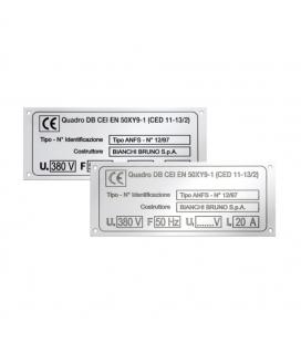 DC052 Targhetta in acciaio, incisione chimica con e senza smalti