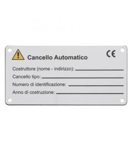 DC060 Targhetta in alluminio preverniciato con stampa digitale