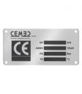 DC061 Targhetta in alluminio anodizzato con stampa ad assorbimento