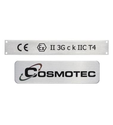 DC064 Targhetta in acciaio con marcatura laser