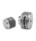 DC065 Manopola e particolare di tubo in alluminio e marcatura laser