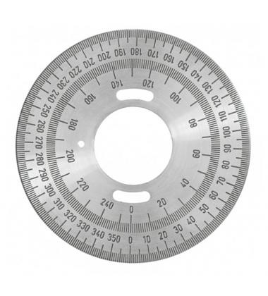 DC071 Goniometro in acciaio incisa con smalto